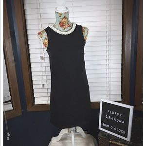 H&M Black Dress with pearl neckline. Size 4